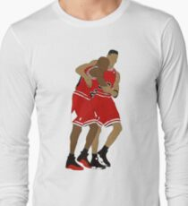 Michael Jordan And Scottie Pippen Long Sleeve T-Shirt