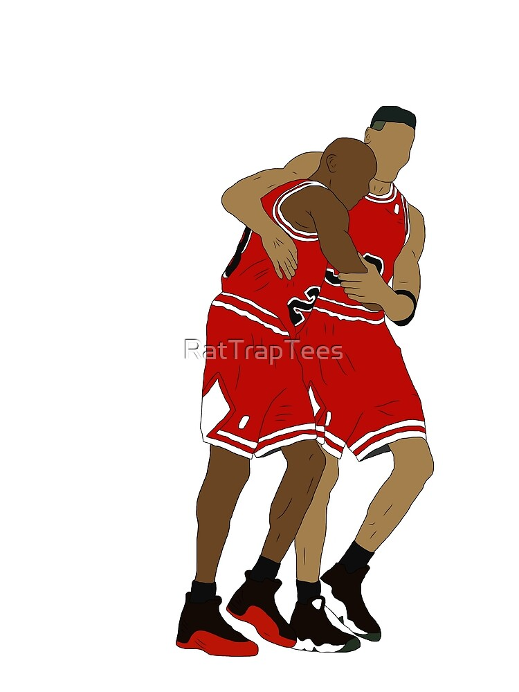 Michael Jordan And Scottie Pippen by RatTrapTees