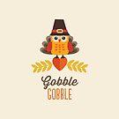 Thanksgiving Owl in der Türkei Kostüm und Pilgrim Hat von daisy-beatrice