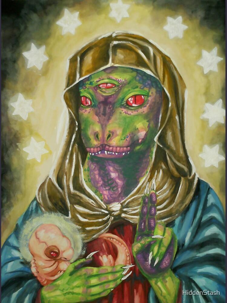 Beata Virgen Reptil y niño de HiddenStash