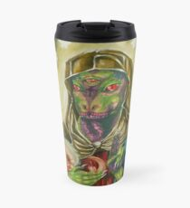 Blessed Reptilian Virgin and Child Travel Mug