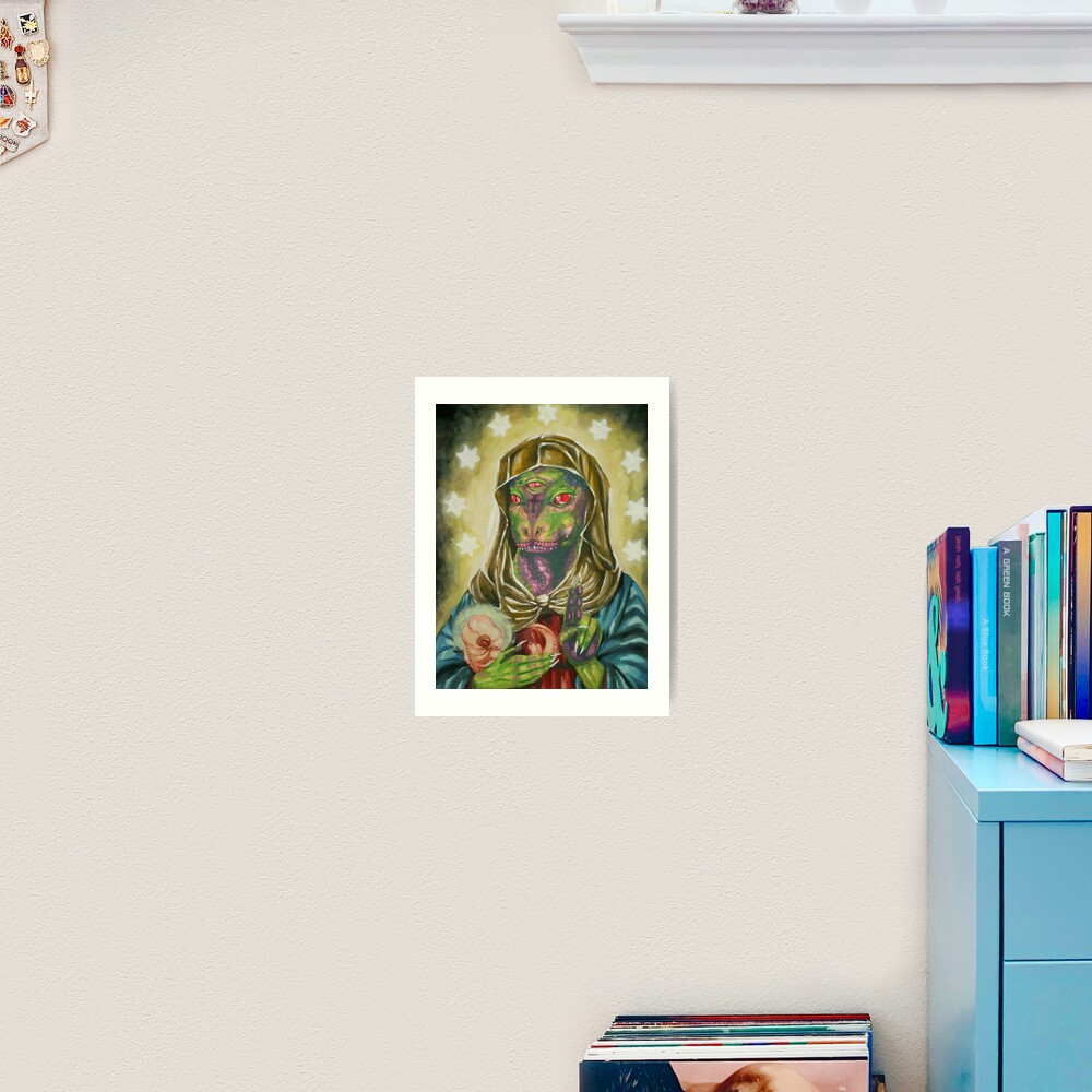 Blessed Reptilian Virgin and Child Art Print