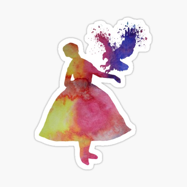 Lady with eagle Sticker