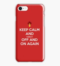 keep calm and it crowd iPhone Case/Skin