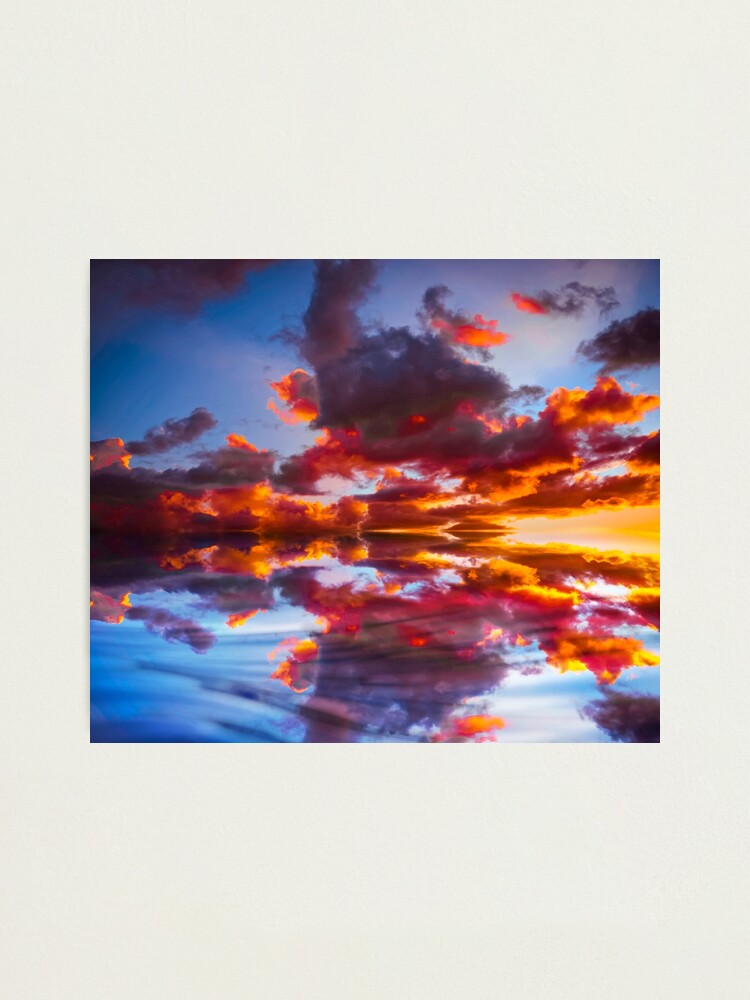 Alternate view of Abstract Sunset Photographic Print