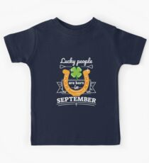 Lucky People are Born in September Kids Clothes
