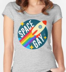 Space Gay Women's Fitted Scoop T-Shirt