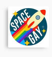 Space Gay Canvas Print
