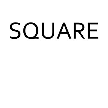 Black Back Square by SquareFashion