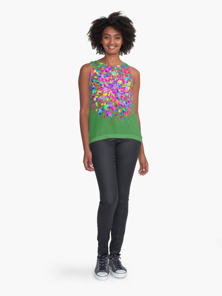 Alternate view of Color explosion Sleeveless Top