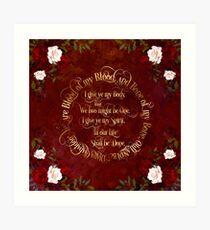 Outlander Wedding Vows Art Print