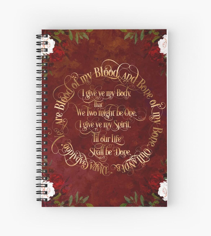 Cuadernos de espiral «Votos de boda Outlander» de literarylifeco ...
