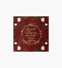Outlander Wedding Vows Art Board