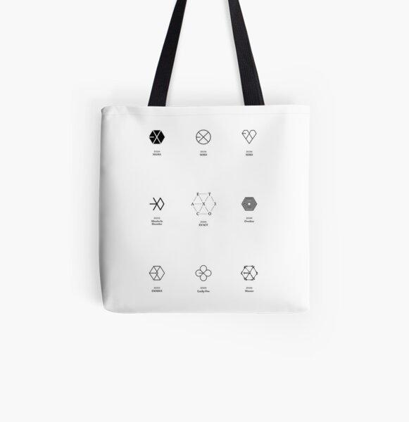 exo logo evolution  All Over Print Tote Bag