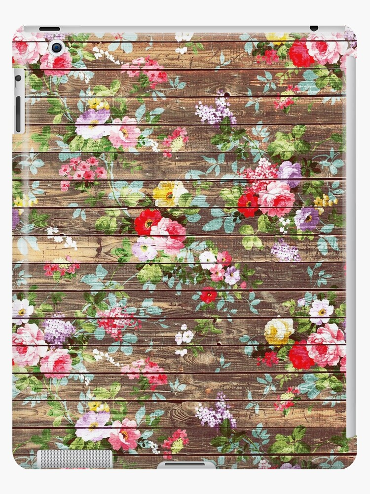 Blumen-rustikales braunes Holz der eleganten rosa Rosen von Kicksdesign