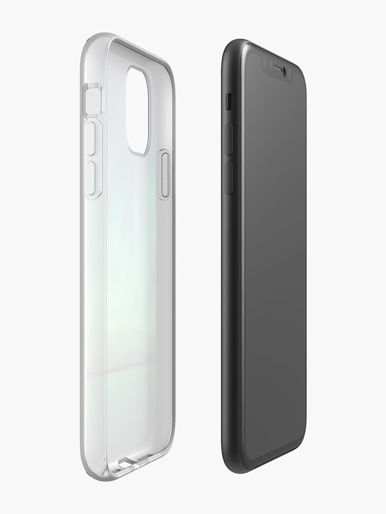Alternate view of Northern lights over lake iPhone Case & Cover