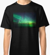 Northern lights over lake Classic T-Shirt