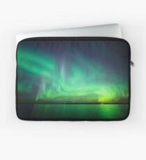 Nordlichter über See Laptoptasche