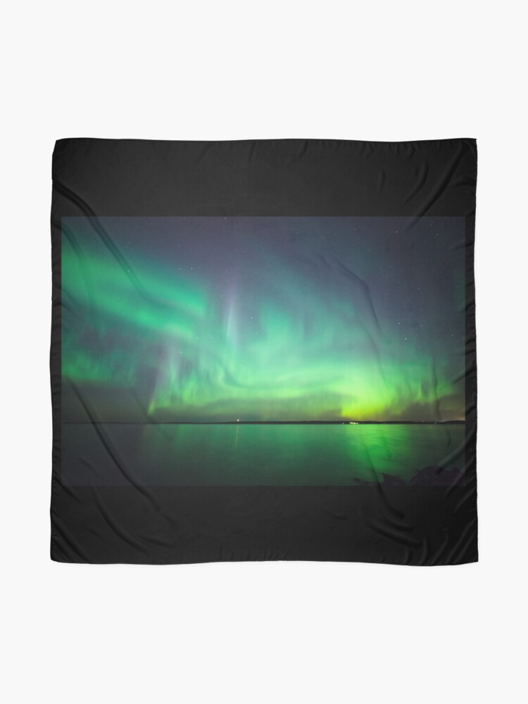 Alternate view of Northern lights over lake Scarf