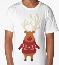 Rudolph Red Nosed Reindeer in Ugly Christmas Sweaters Long T-Shirt