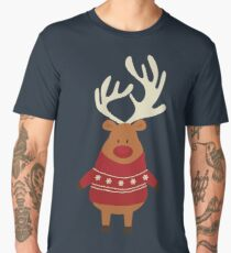 Rudolph Red Nosed Reindeer in Ugly Christmas Sweaters Men's Premium T-Shirt