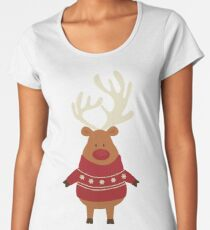 Rudolph Red Nosed Reindeer in Ugly Christmas Sweaters Women's Premium T-Shirt