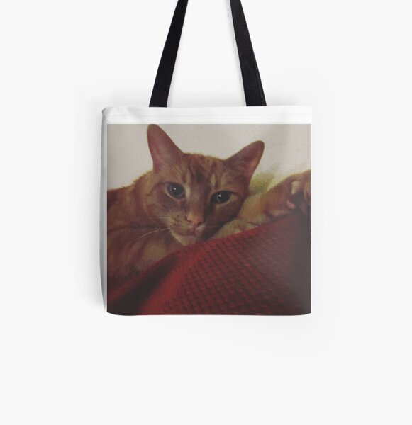 Kickin' it Kitty All Over Print Tote Bag