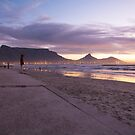 Sunset over Table Mountain by Shaun Colin Bell