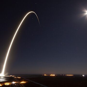 SpaceX Launch at night by Boy-With-Hat