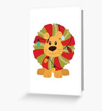 Your Big Cat in Decorative Christmas Wreath Greeting Card