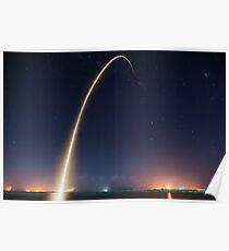 Falcon 9 Rocket Launch Poster