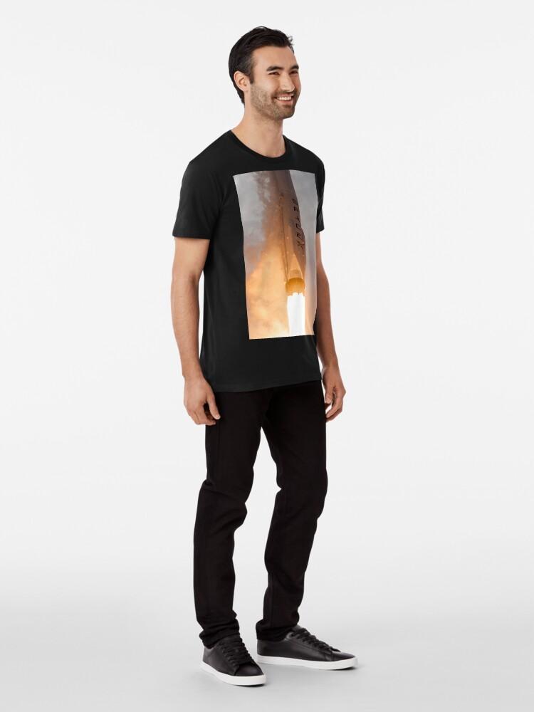 Alternative Ansicht von Spacex Rakete Premium T-Shirt