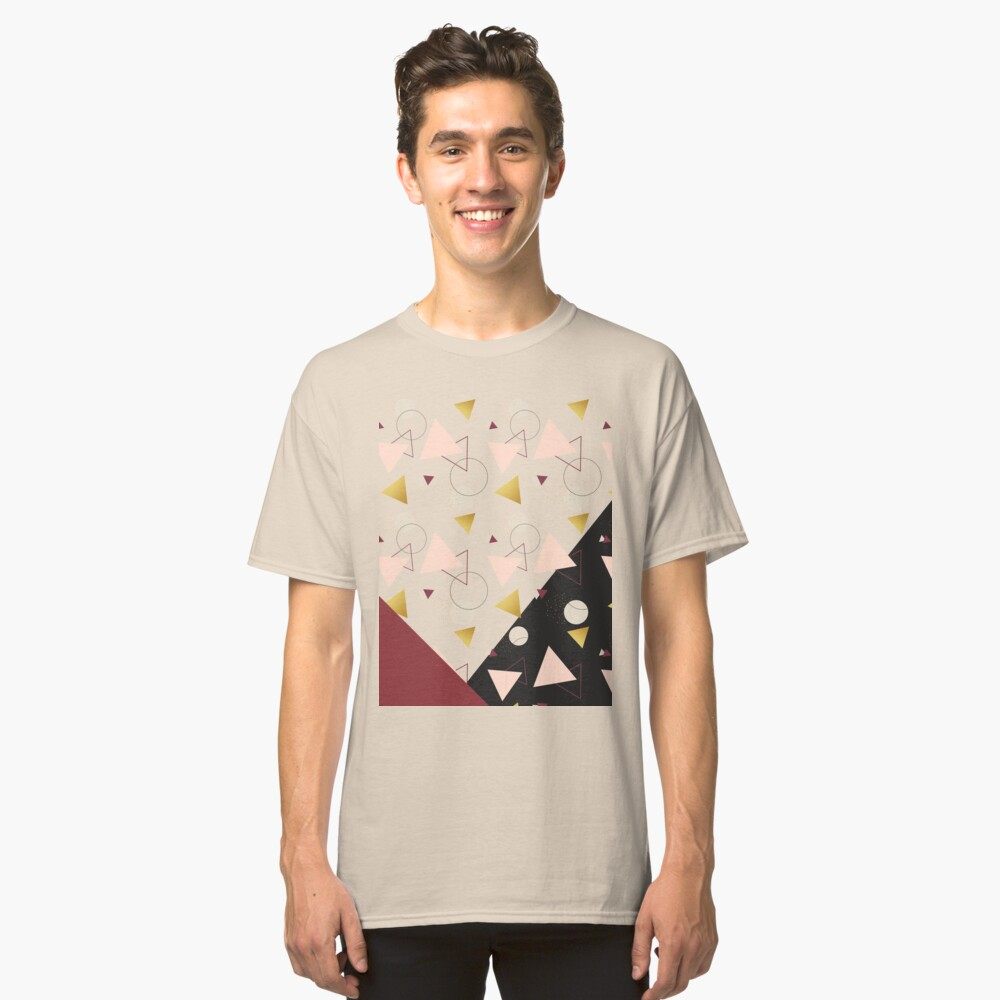 Triangles Mix #redbubble #decor #buyart Classic T-Shirt