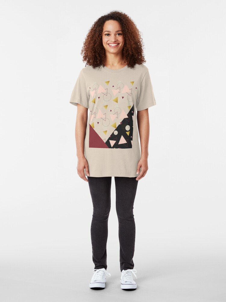 Alternate view of Triangles Mix #redbubble #decor #buyart Slim Fit T-Shirt