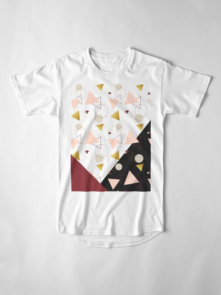 Alternate view of Triangles Mix #redbubble #decor #buyart Long T-Shirt