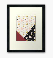 Triangles Mix #redbubble #decor #buyart Framed Print