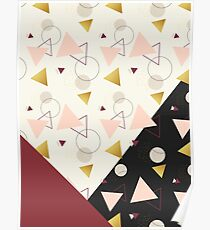 Triangles Mix #redbubble #decor #buyart Poster