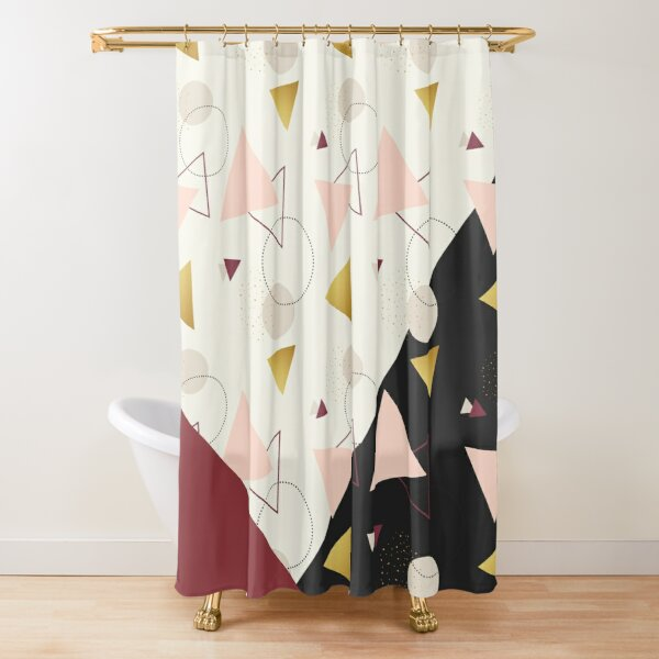 Triangles Mix Shower Curtain