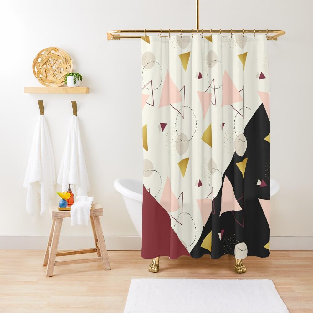 Triangles Mix #redbubble #decor #buyart Shower Curtain
