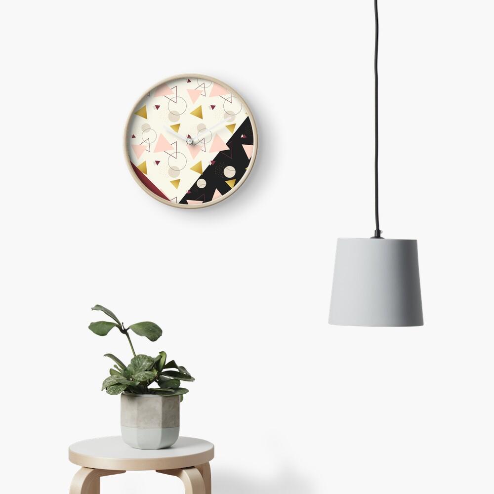 Triangles Mix #redbubble #decor #buyart Clock
