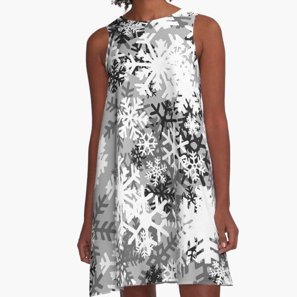 Snowflake Camo A-Line Dress