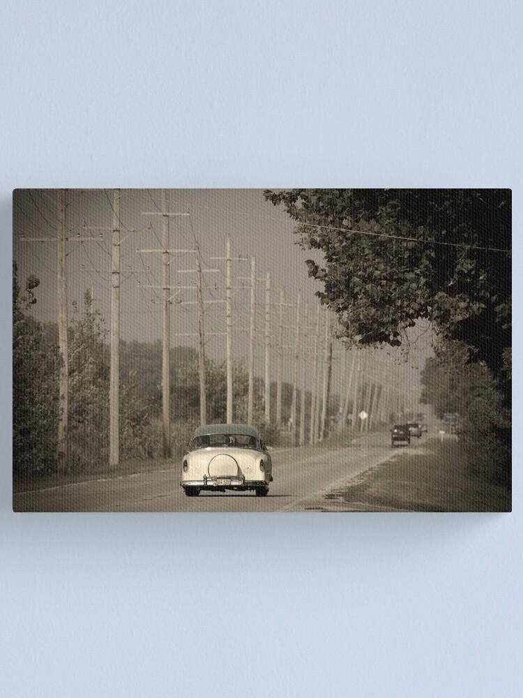 Alternate view of Route 66. Godley 1950's car (Alan Copson ©) Canvas Print