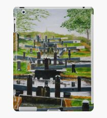 Looking down Audlem locks from lock No. 8 iPad Case/Skin