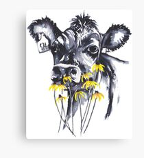 No worries - cow painting Canvas Print