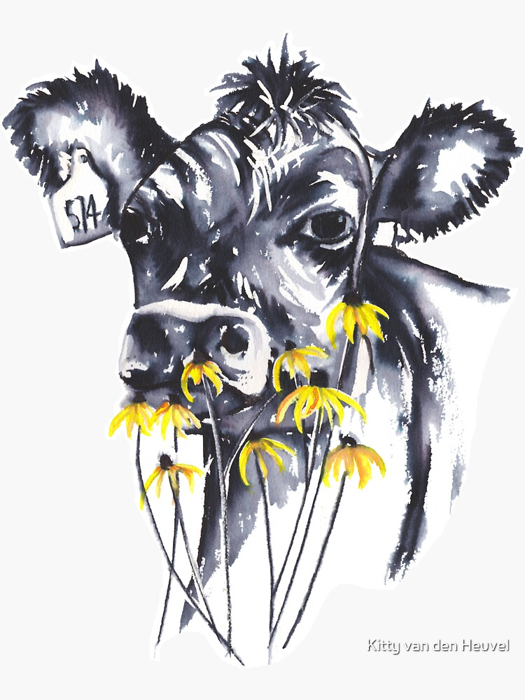 No worries - cow painting by kittyvdheuvel