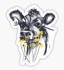 No worries - cow painting Sticker