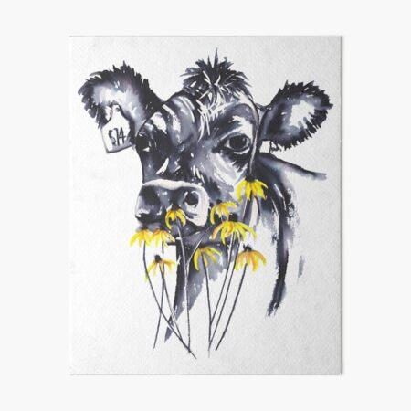 No worries - cow painting Art Board Print