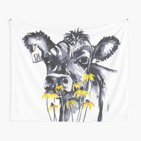No worries - cow painting Tapestry