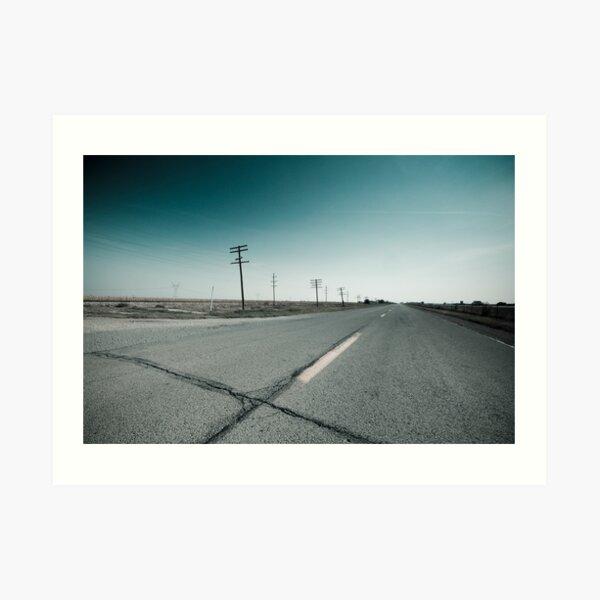 Route 66 near Dwight. Illinois  Art Print