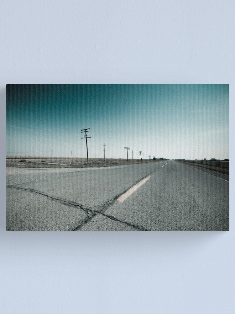 Alternate view of Route 66 near Dwight. Illinois  Canvas Print